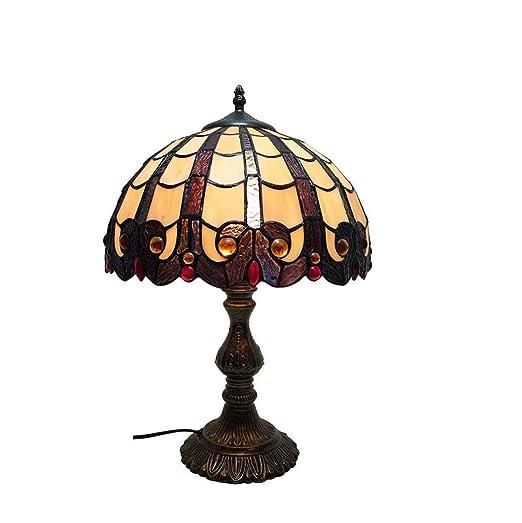CRYGD Lámpara de Mesa Estilo Tiffany, lámpara de Escritorio con ...