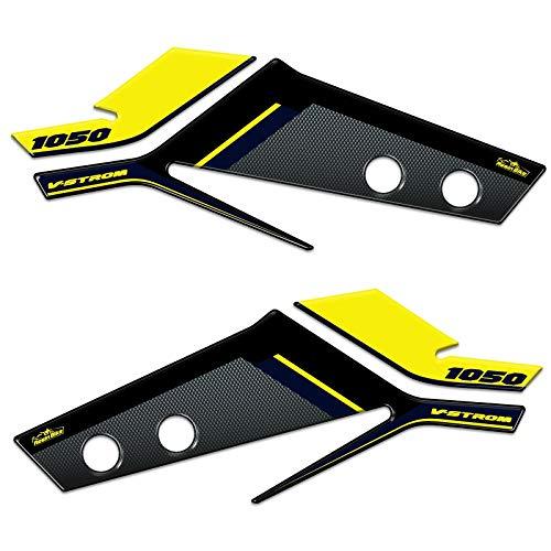 3D-sticker handbescherming compatibel met Suzuki V-stroom 1050 geel