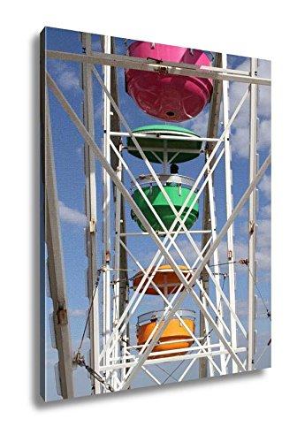 Amazon.com: Ashley Canvas A Colorful Ferris Wheel, Wall Art Home ...