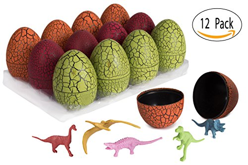 12 Self Balancing Eggs With Miniature Dinosaur - Easter Eggs