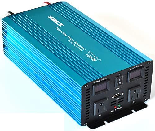 - Bear Claw Industries 1000 Watt Pure Sine Wave Inverter / 12VDC to 110VAC