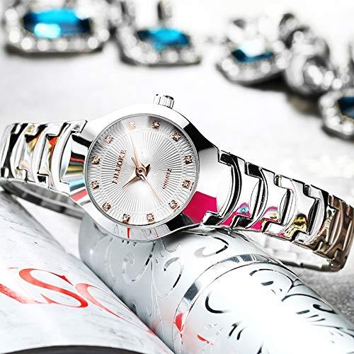 (tide brand watch you bloom beauty) fashionable ladies fashion watch woman take gift quartz watch waterproof thin steel diamond watch women girls form ((square diamond) flour rose gold spire no calend