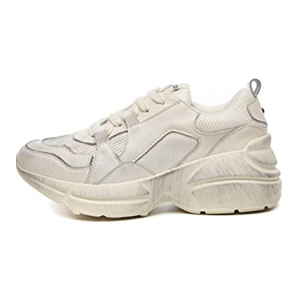 Nuevo 2018 Primavera Moda Mujer Zapatos Casual Zapatos de plataforma de cuero de gamuza Zapatillas de