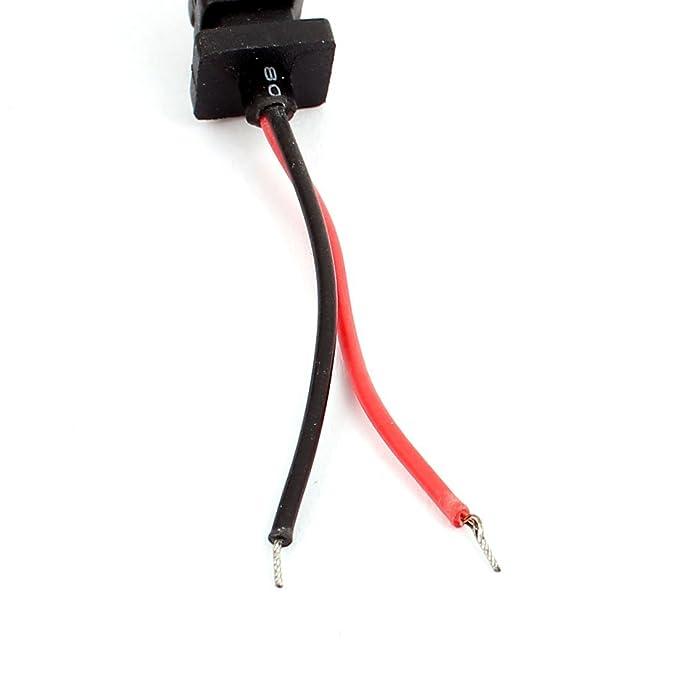 Amazon.com: eDealMax 5.5x2.1m m Cable de Corriente continua Gato Cable Masculino Para la cámara de circuito cerrado de televisión 1,5M: Electronics