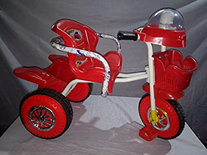 842bdc3db7e Buy Chinar Three wheeler kids bicycle with musical hood And Basket Suitable  for 2years to 5years kids-Red Online at Low Prices in India - Amazon.in