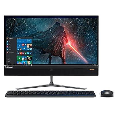 "2017 Newest Lenovo Business Flagship 23"" Full HD Touchscreen All-In-One Desktop PC Intel i5-6400T Processor 8GB DDR4 RAM 2TB HDD NVIDIA GeForce 940 MX Graphics DVD-RW HDMI 802.11ac Windows 10-Black"
