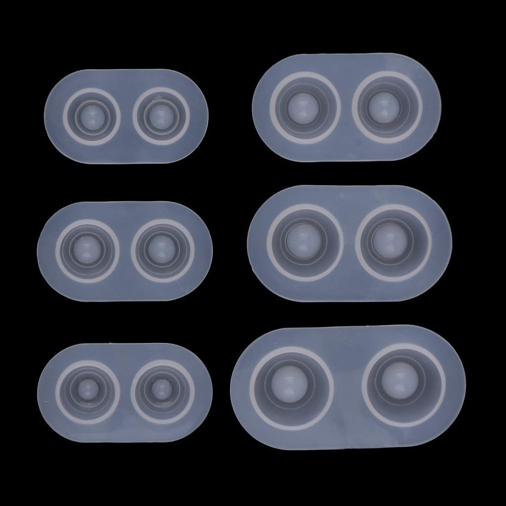 BJD Doll Heavy Pupil Eye Clear Casting Molds Mold Base 14-22mm Eye Base Pack of 6 DIY Doll Eyes Silicone Molds