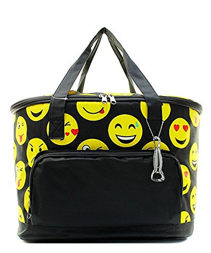 Emoji Smile Faces Canvas Large Insulated Cooler (Hot Halloween Costumes Facebook)