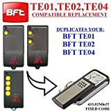 BFT TE01 / BFT TE02 / BFT TE04 Compatible remote control, CLONE transmitter for garage gate automation, Top Quality keyfob, 433,92MHz fixed code CLONE!!!