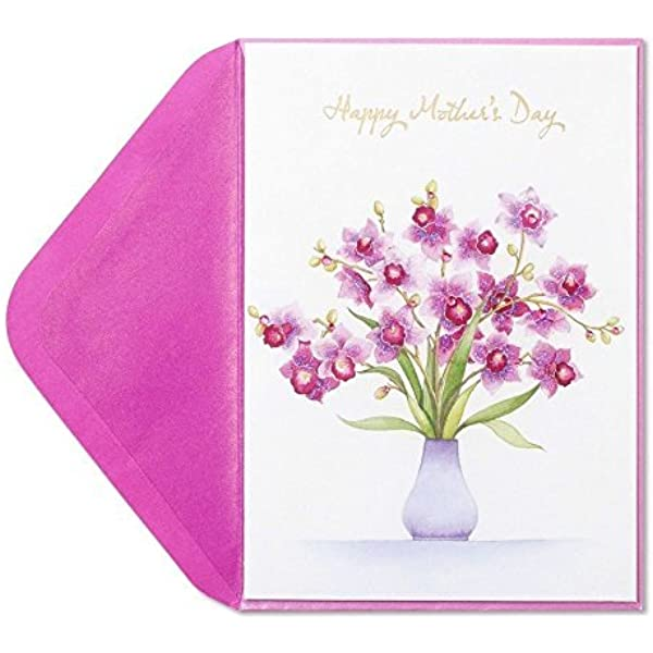 New in packaging Mother/'s Day greeting card Bird Floewrs Papyrus