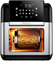 Innsky Air Fryer, 10.6-Quarts Air Oven, Rotisserie Oven, 1500W Electric Air Fryer Oven with LED Digital Touchscreen,...