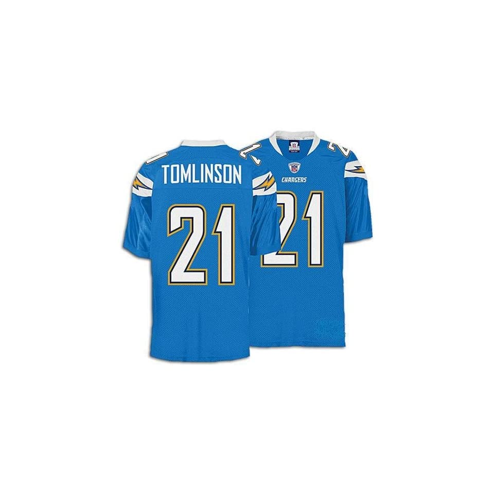 Ladainian Tomlinson San Diego Chargers Jersey (Lt blue w/ Stitched numbers, name & sleeve bolts) Size 52 or 54   New
