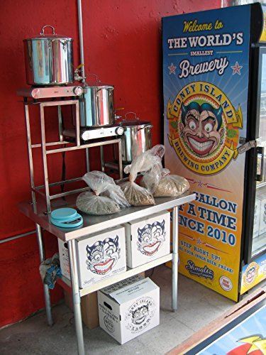 Hot liquor tank, mash tun, brew kettle, the entire production facility of the Coney Island Brewing (Hot Liquor Tank)