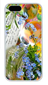 grove case forget me not flowers vase PC White Case for iphone 5/5S