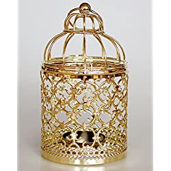 FAROOT Candle Holders Hollow Metal Candlestick Wedding Parties and Home Decor Candelabra Moroccan Lanterns Candlestick (A)