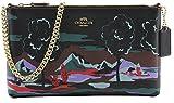 Coach Women's Large Wristlet Landscape Print Clutch Shoulder Bag, Style F11915,Multi Black