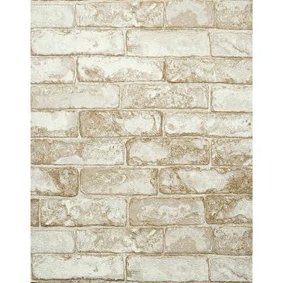 York Wallcoverings Modern Rustic Rustic Brick Wallpaper