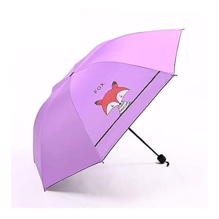 Yhui Paraguas para niños con Mango Largo, pequeño y Compacto ...