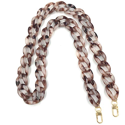 Clear Aumey Plastic Strap Ladies Bag Chain Shoulder Cross Body Bag Handbag Purse Replacement Chain Strap Set with Buckles 40 Inches