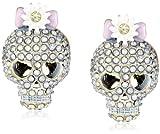 """Betsey Johnson """"Girlie Grunge"""" Skull Stud Earrings"""