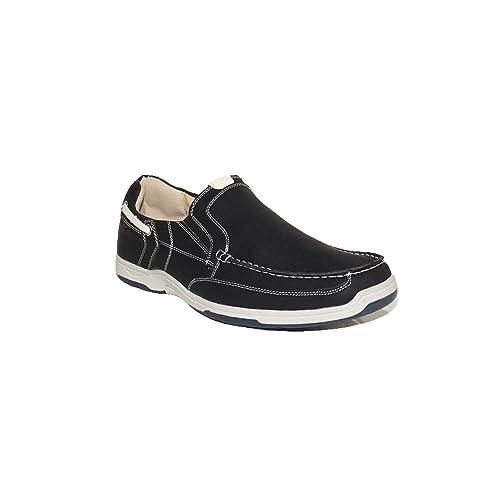 PEZZANO - Mocasín Neo R11 Zapatos Mocasines Hombre Negros Modernos Casuales Baratos: Amazon.es: Zapatos y complementos