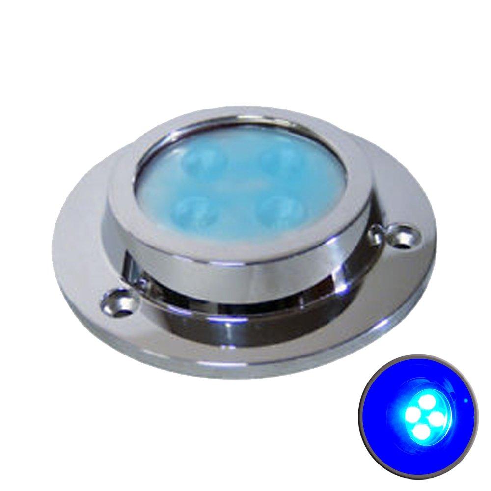 SUPER BRIGHT MARINE UNDERWATER LIGHT BOAT LED BLUE ODM 12W TOTAL EASY INSTALL