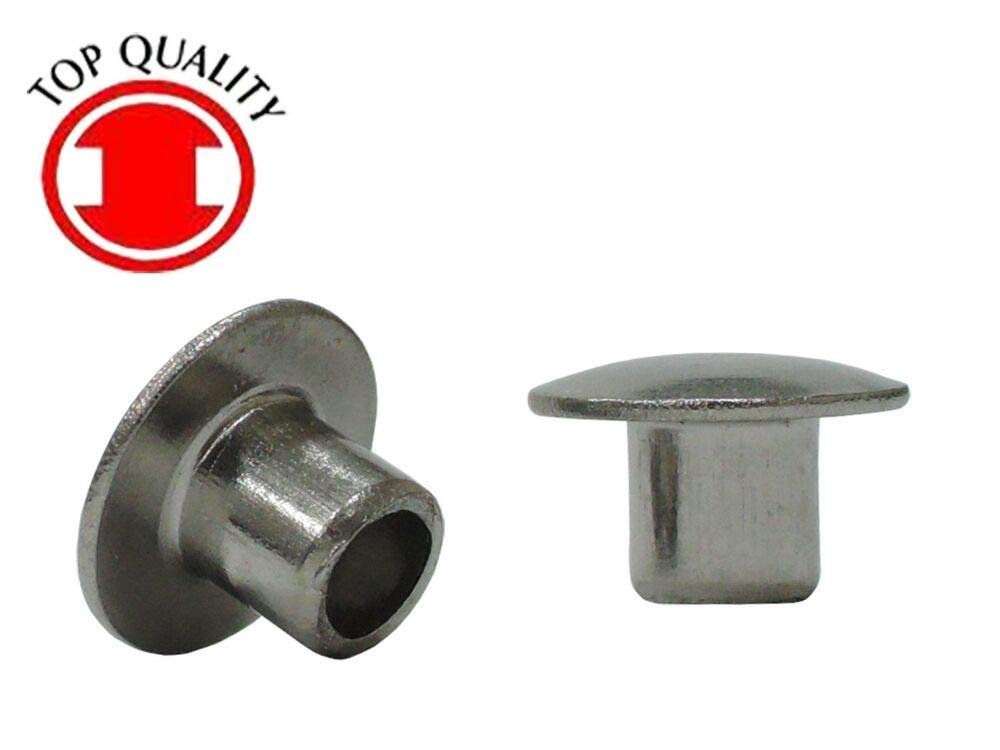 THTR316120-100pcs Stainless Steel Truss Head Semi-Tubular Rivets - 3/16''X1/2'' by Top Quality