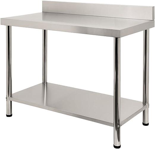 LARS360 Mesa de Trabajo de Cocina acero inoxidable, para ...