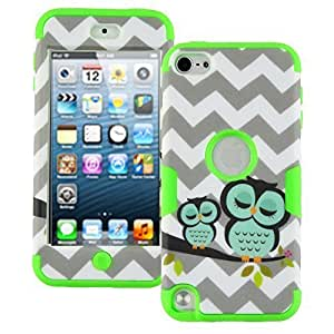 For Ipod Touch 4 Case Cover Case, For Ipod Touch 4 Case Cover Chevron Sleepy Owls, High Impact Armor Protective For Ipod Touch 4 Case Cover Generation - 1 Pack(Green)