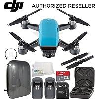 DJI Spark Portable Mini Drone Quadcopter Hardshell Backpack Essential Bundle (Sky Blue)