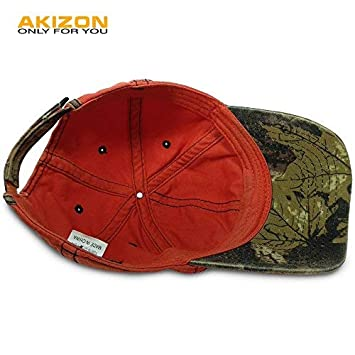 Amazon.com : AKIZON Mens Hats Baseball Cap with Fish Bones - Fishing Hat for Men, Orange 7 1/4 : Sports & Outdoors