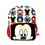 """Small Backpack - Disney - Mickey Mouse Face All-Print 12"""" School Bag New 124502-2"""