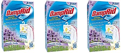 DampRid FG83LV Hanging Moisture Absorber Lavender Vanilla XaixoO, 3Pack (3 Pack, Lavendar)