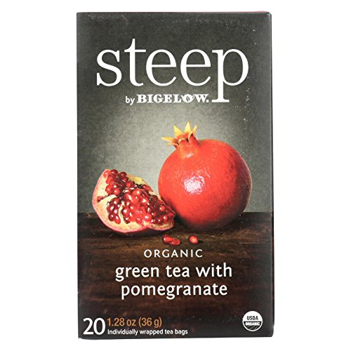 (Steep Bigelow Organic Green Tea with Pomegranate - 20 bags)