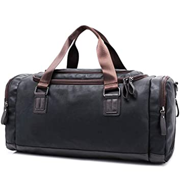 ce27774059dc Amazon.com | Summer Men H Travel Bags Male Business PU Leather ...