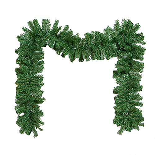Christma Artificial Pine Garland for Xmas Decorations Wall Door Stairs Ornaments 9ft / - Garlands Christmas