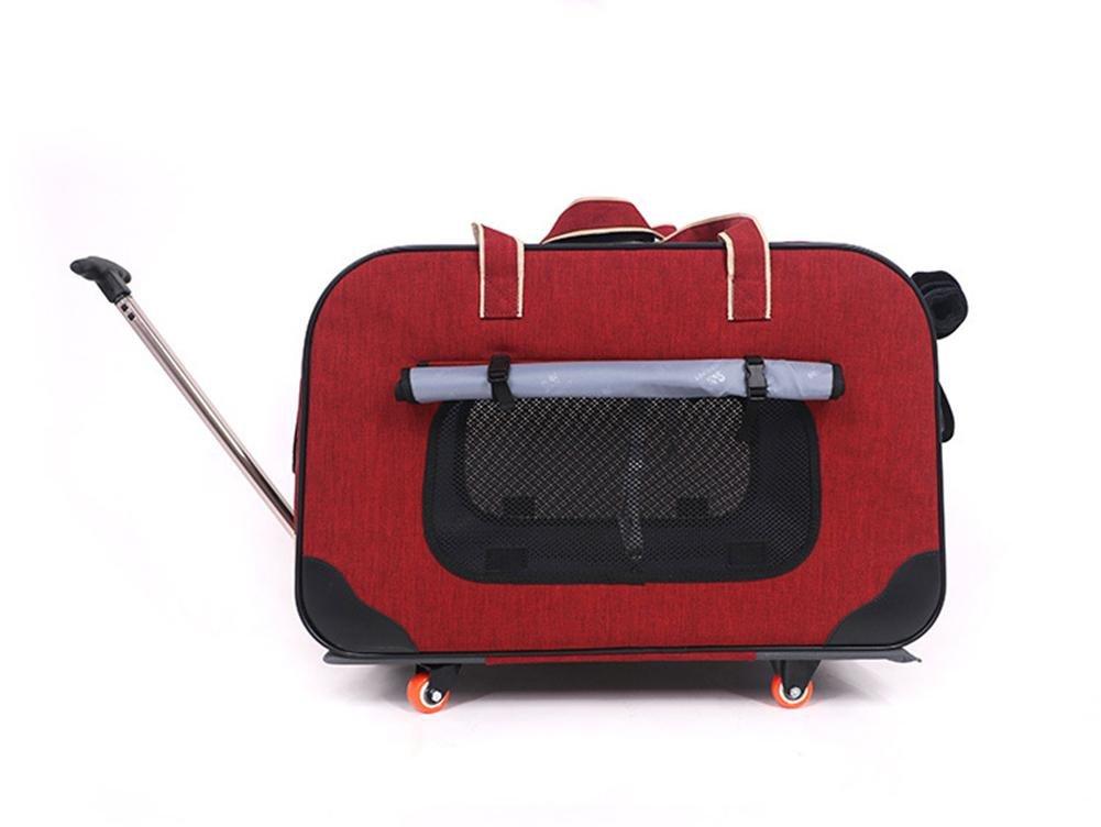 B Mascotas Transport/ín Carrito Multiuso Carrito Perro 2 en 1 Mochila Carrito 62*35*39 cm