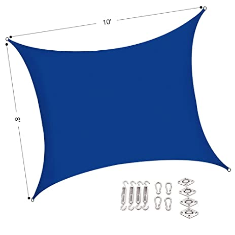 outhere sun shade sail rectangle canopy with stainless steel hardware kit