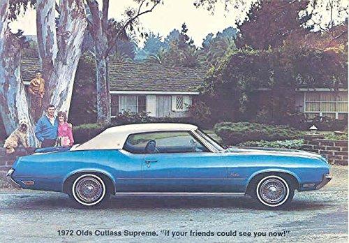 1972 Oldsmobile Cutlass Supreme ORIGINAL Factory Postcard