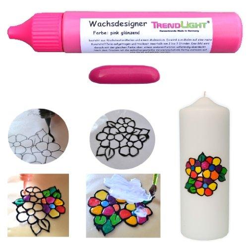 Wachsdesigner pink glänzend 30 ml inkl. ausführlicher Anleitung mit Bilder