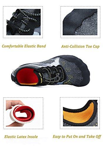 Zapatos Buceo Secado Zapatillas Descalzo Surf Snorkel Agua Hombre Natacion de Antideslizante Rápido Escarpines Playa para Negro Piscina Mujer r7wrYnv