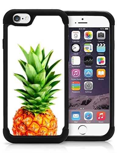 iPhone 6 6S Plus Case Cover OxyHybrid Big Pineapple Head Hipster Fruit Tropical Cool Design Drop Protection Plastic And Silicon Hybrid Case.