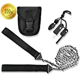 SUMPRI Camping Survival Gear - 36 Inch Pocket Chainsaw & Firestarter Emergency Kit -Magnesium Rod Fire Starter -Handsaw For Wood & Tree Cutting- Hiking, Picnic, Backpack Multitool Camp Saw