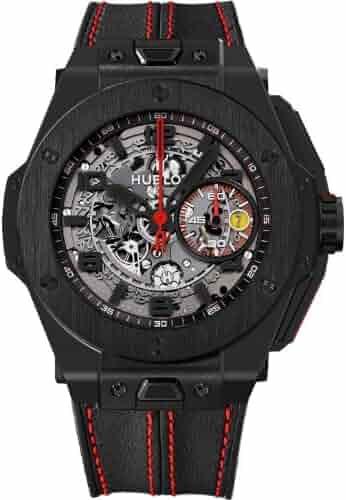 c8e197036 Hublot Ferrari All Black Automatic Openwork Dial Black Ceramic Mens Watch  401.CX.0123