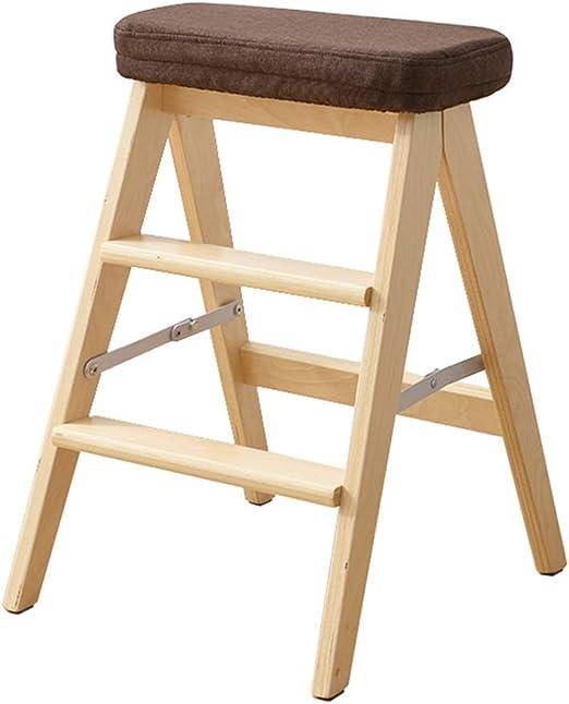 Amazon.com: Taburete para escalones de madera, multifunción ...
