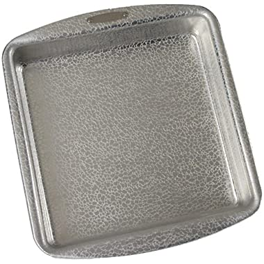Doughmakers Aluminum Nonstick, Original Pebble Pattern, Commercial 9-inch by 9-inch Square Cake Pan
