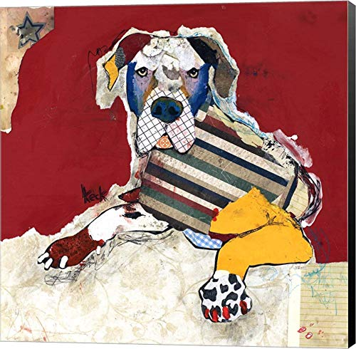 Great Dane by Michel Keck Canvas Art Wall Picture, Museum Wrapped with Black Sides, 12 x 12 inches