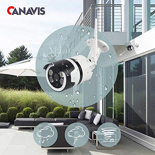 Security Camera, HD 1080P Wireless WiFi Camera Outdoor 2MP Security Surveillance Bullet Camera with Night Vision Two Way Audio Motion Detection, Home Video Weatherproof Surveillance IP Camera