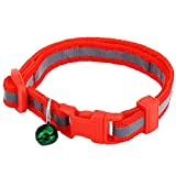 Product review for Sidney Wollaston Reflective Pet Adjustable Nylon Cat Puppy Collar with Tinkling Bell