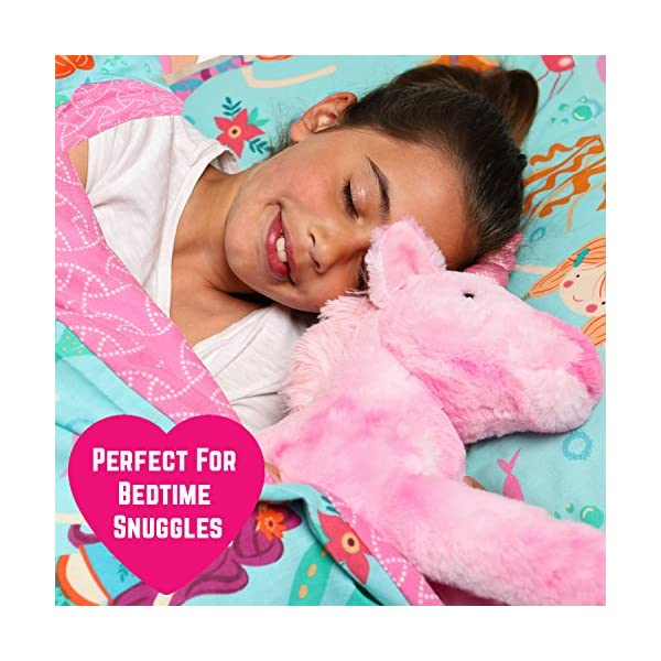 GirlZone Stuffed Pink Plush Unicorn for Girls, Large-18 Inches, Glitter Horn, Great Birthday Gift Idea 9